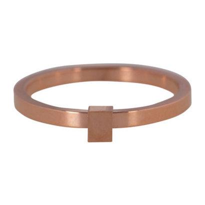 CHARMIN'S Charmins Quatre Steel stalen stapelring R485 Rosegold Steel van het fashion sieradenmerk Charmin's.
