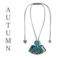 ZSISKA DESIGN ZSISKA Design Anhänger Halskette Herbst Teal