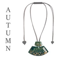 ZSISKA DESIGN ZSISKA Design Anhänger Halskette Herbst Olivine