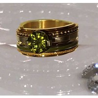 IXXXI JEWELRY RINGEN iXXXi COMBINATION RING GOLD 1020 GLAMOR OLIVINA