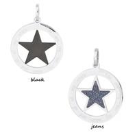 iXXXi JEWELRY IXXXI JEWELRY PENDANT STAR JEANS BLACK STAINLESS STEEL