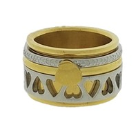 IXXXI JEWELRY RINGEN iXXXi COMBINATIE RING 12mm GOLD 1025 HEARTS