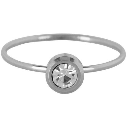 CHARMIN'S Charmins Shiny STYLISH Steel stalen stapelring R427 Silver van het fashion sieradenmerk Charmin's.