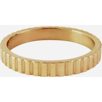 CHARMIN'S Charmins Ring Shiny gezackt Gold Stahl Stahl