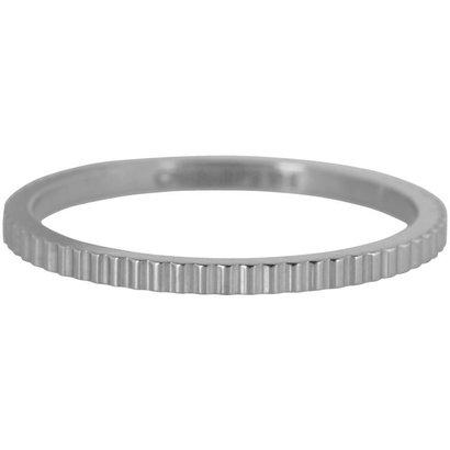 CHARMIN'S Charmins Shiny BRICKS Steel stalen stapelring R398 Silver Steel van het fashion sieradenmerk Charmin's.