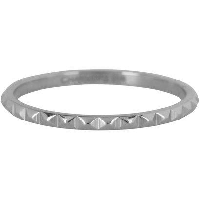 CHARMIN'S Charmins Shiny NEFERTITI Steel stalen stapelring R402 Silver Steel van het fashion sieradenmerk Charmin's.