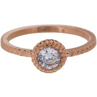 CHARMIN'S Charmins ring Shiny ICONIC Steel Rosegoud Staal