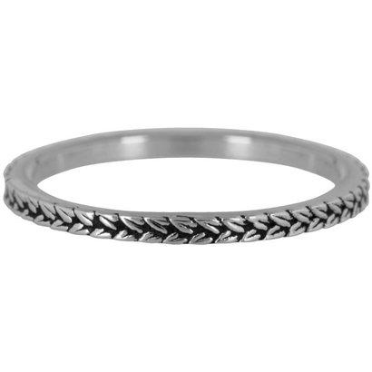 CHARMIN'S Charmins BRAIDS Steel stalen stapelring R447 Silver Steel van het fashion sieradenmerk Charmin's.