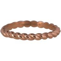 CHARMIN'S Charmins Ring Shiny CURVES Rose Gold Stahl Stahl