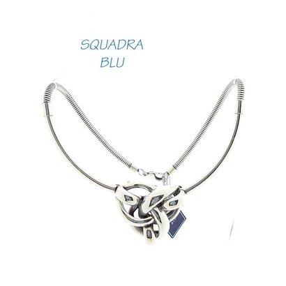 SQUADRA BLU Dutch Design Jewelry SQUADRA BLU statement necklace Dutch Design with Celtic Knot