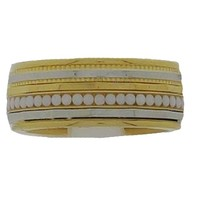 IXXXI JEWELRY RINGEN iXXXi COMBINATION RING 8mm GOLD COLORED 1042 Gold White