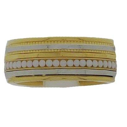 IXXXI JEWELRY RINGEN iXXXi COMBINATIE RING 8mm GOUDKLEURIG 1042 Gold White
