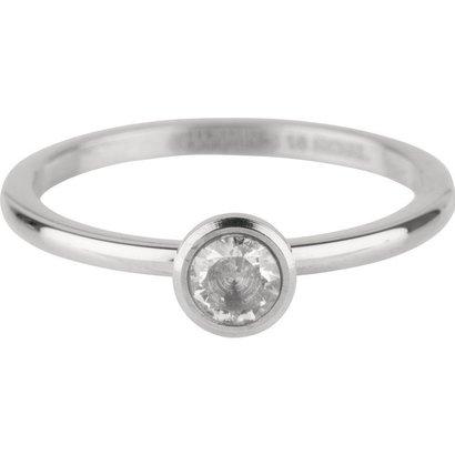 CHARMIN'S Charmins Shiny STYLISH Bright Stahl Stahl Setzring R488 Silber von der Modeschmuckmarke Charmin's.