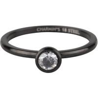 CHARMIN'S Charmin 'ring Shiny STYLISH Bright Steel Black Steel