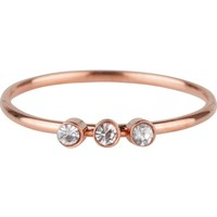 CHARMIN'S Charmins ring Shine Bright 3.0 Steel Rosegold Staal