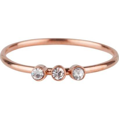 CHARMIN'S Charmins Shine Bright 3.0 Steel stalen stapelring R506 Rosegold van het fashion sieradenmerk Charmin's.