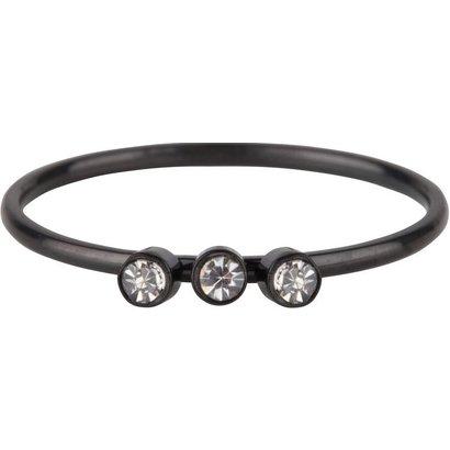 CHARMIN'S Charmins Shine Bright 3.0 Steel stalen stapelring R507 Black van het fashion sieradenmerk Charmin's.