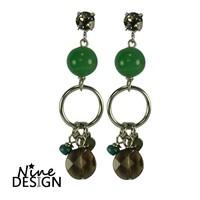 ND Aviva Silver Earrings