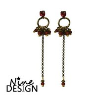 ND Earrings Folk Bronze