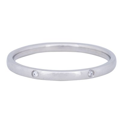 IXXXI JEWELRY RINGEN iXXXi Jewelry Vulring 2mm ELEGANCE  Zilver Stainless steel