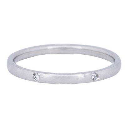 IXXXI JEWELRY RINGEN iXXXi Schmuck Ring 2mm ELEGANCE Silber Edelstahl