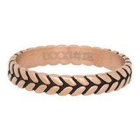iXXXi JEWELRY iXXXi Jewelry Filling ring 0.4 cm LEAF KNOT Rosegold