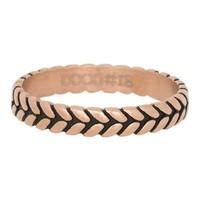 iXXXi JEWELRY iXXXi Jewelry Vulring 0.4 cm LEAF KNOT  Rosegoud