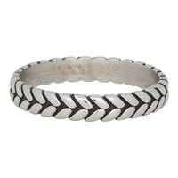 iXXXi JEWELRY iXXXi Jewelry Filling ring 0.4 cm LEAF KNOT Silver