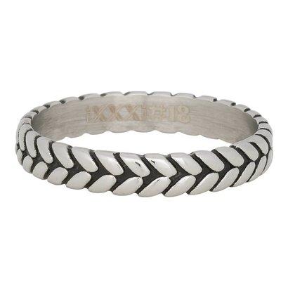 iXXXi JEWELRY iXXXi Schmuck Ring 4mm LEAF Knoten Silber Edelstahl