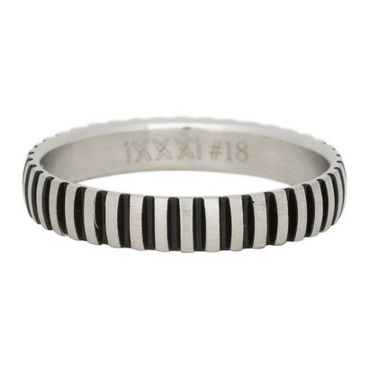 iXXXi JEWELRY iXXXi Schmuck Ring 4mm PIANO SILBER Edelstahl