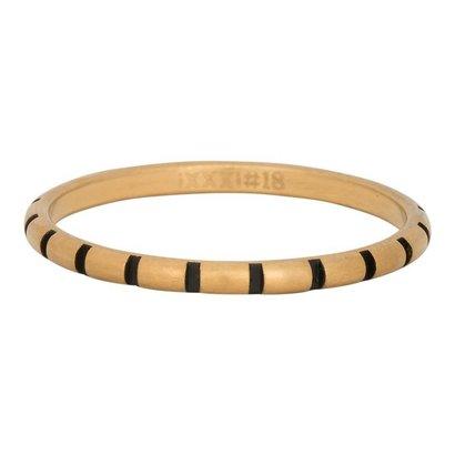 iXXXi JEWELRY iXXXi Schmuck Ring 2mm STREIFEN Gold Edelstahl