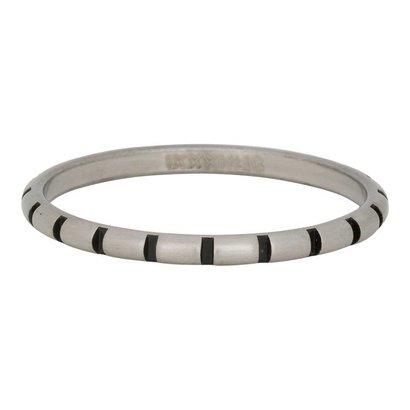 iXXXi JEWELRY iXXXi Schmuck Ring 2mm STREIFEN SILBER Edelstahl