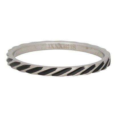 iXXXi JEWELRY iXXXi Schmuck Ring 2mm SCHLANGEN STREIFEN SILBER Edelstahl