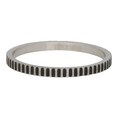 iXXXi JEWELRY iXXXi Schmuck Ring 2mm KARTELLS SILBER Edelstahl