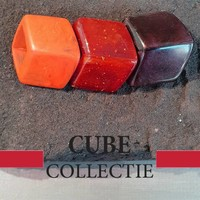 CUBE COLLECTION CUBES COMBINATIE BROWN ORANGE 100