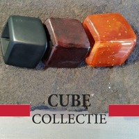 CUBE COLLECTION CUBES COMBINATION BROWN RUST 103
