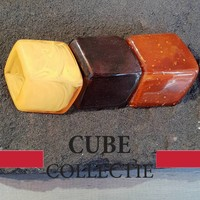 CUBE COLLECTION CUBES COMBINATIE YELLOW BROWN 105