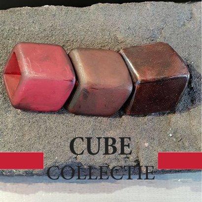 CUBE COLLECTION 3 CUBES COMBINATIE 106 De afmeting van 1 CUBE is 46x36mm.