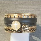 IXXXI JEWELRY RINGEN iXXXi COMBINATIE RING 14mm GOUDKLEURIG 1056 CROSS GOLD