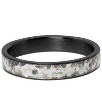 IXXXI JEWELRY RINGEN iXXXi Jewelry Filling ring 4MM GLITTER CONFETTI BLACK