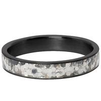 IXXXI JEWELRY RINGEN iXXXi Jewelry Vulring 4MM  GLITTER CONFETTI  BLACK