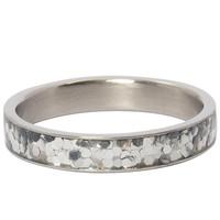 IXXXI JEWELRY RINGEN iXXXi Jewelry Filling ring 4MM GLITTER CONFETTI SILVER