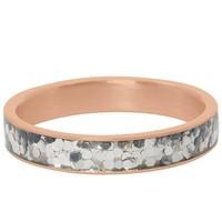 IXXXI JEWELRY RINGEN iXXXi Jewelry Vulring 4MM  GLITTER CONFETTI  ROSE