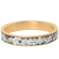 IXXXI JEWELRY RINGEN iXXXi Jewelry Vulring 4MM  GLITTER CONFETTI  GOUD