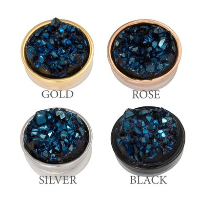 iXXXi JEWELRY iXXXi Jewelry  Top part DRUSY DARK BLUE  Stainless steel