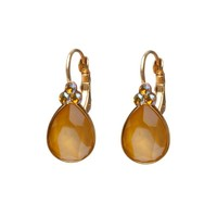 BIBA OORBELLEN Biba Drop shaped earrings with Swarovskisteen Buttercup