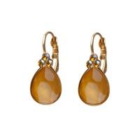 BIBA OORBELLEN Biba Tropfenförmige Ohrringe mit Swarovskisteen Buttercup