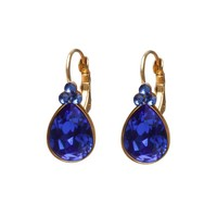 BIBA OORBELLEN Biba Teardrop Earrings with Swarovskist and Majestic Blue