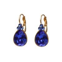 BIBA OORBELLEN Biba Teardrop-Ohrringe mit Swarovskist und Majestic Blue