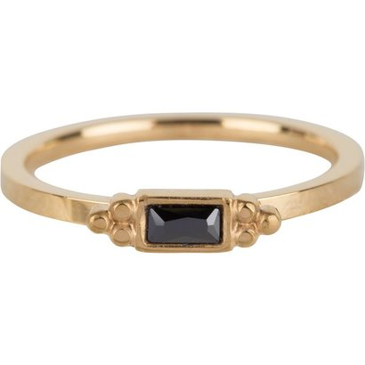 CHARMIN'S Charmins Shiny STYLISH rectangle gold steel R585 from the fashion jewelry brand Charmin's.
